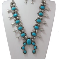 Navajo Turquoise Necklace Set