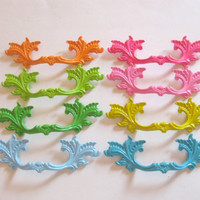 """Lot of 8 Lilly Pulitzer Inspired drawer handles 3"""" Centers different quantities available"""