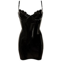 Couture Latex Restricted Scallop Cup Mini Dress | Atsuko Kudo