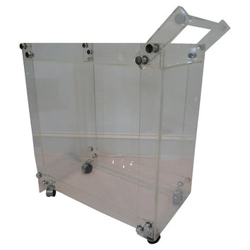 Lucite Gallery Bar Cart