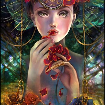 """The Rose Eater"" - Art Print by Schin Loong"