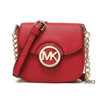 DCCKNQ2 Michael Kors MK Leather Chain Crossbody Shoulder Bag Satchel-3