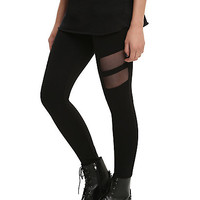 Mesh Side Cut-Out Leggings