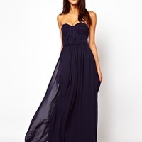 ASOS Bandeau Ruched Maxi Dress