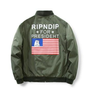 RIPNDIP Bomber Jacket Men's Fashion Thin spring Autumn Military Motorcycle Men Jackets Flight Ma-1 Pilot Air Force Brand coat