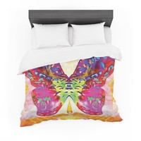"""Anne LaBrie """"Butterfly Spirit"""" Pink Yellow Featherweight Duvet Cover"""