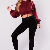 Shalene Crop Sweater - Maroon