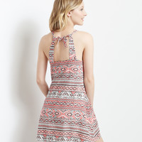 Mosaic Halter Shift Dress