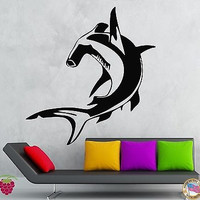 Wall Stickers Vinyl Decal Fish Hammerhead Shark Ocean Predator (ig131)