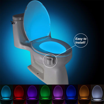 Motion activated LED Toilet Light. Potty Training Light.