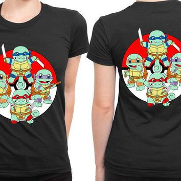 DCCKG72 Teenage Mutant Ninja Turtle Pokeball 2 Sided Womens T Shirt