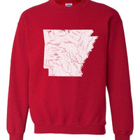 Rivers and Lakes Crew Neck Sweatshirt