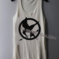 Mockingjay Shirt The Hunger Games Shirts Tank Top Tunic TShirt T Shirt Singlet - Size S M L