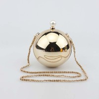 New Fashion Luxury Pearl Shape Women's Round Bag Famous Designer Shoulder Handbags Chain Bag 9Colors High Quality Women Bag