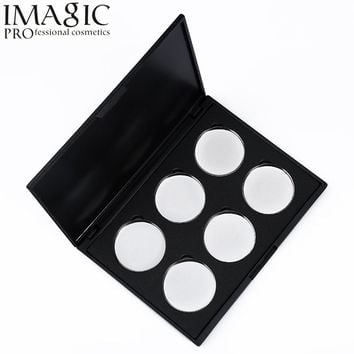 Professional Stainless Steel Makeup Palette Set 6pcs Empty Eye Shadow Eyeshadow Magnetic Removable Pans for Mix Make Up Pigments