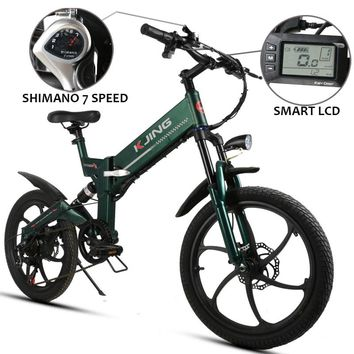 20inch folding electric bicycle 48V lithium battery250W 350W aluminum 6 spokes wheel electric mountain bike off-road vehicles