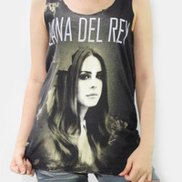 LANA DEL REY Chamber Pop Indie Pop Alternative Vest Tank Top Women Shirt Colorful Black Dyed Fabrics