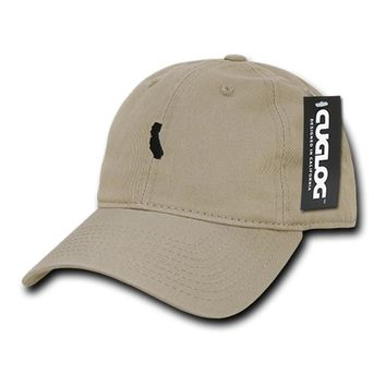 Cali State Dad Hat in Khaki by Cuglog