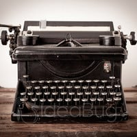 8x10 Photo Print - Antique Manual Typewriter on Wood Trunk - Fine Art