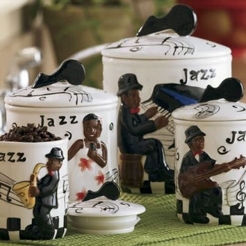 4pc Jazz Band Canister Set