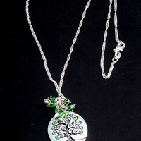 Tree of Life Necklace, Family Tree Necklace - Sterling Silver