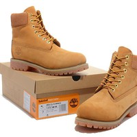 Timberland Rhubarb Boots Keep Warm High Tops Yellow Waterproof Martin Boots