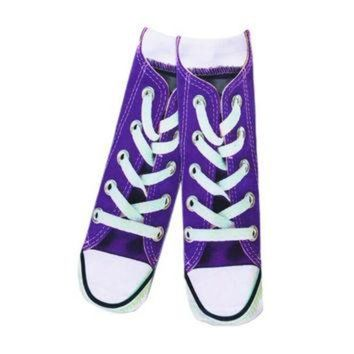 CREYUG7 All Over Print Chuck Taylor All Star Converse Shoes Custom Printed Socks Long Casual S
