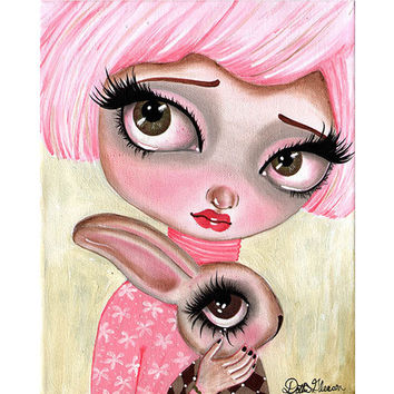 Lowbrow Art Company A Precious Love Art Print by Artist Dottie Gleason