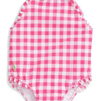 Ralph Lauren Gingham One-Piece Swimsuit (Baby Girls) | Nordstrom