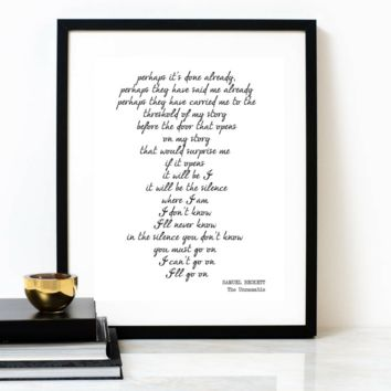 'Perhaps' from The Unnamable Typographic Print, SAMUEL BECKETT Poem