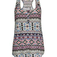 Daytrip Aztec Henley Tank Top - Women's Shirts/Tops | Buckle