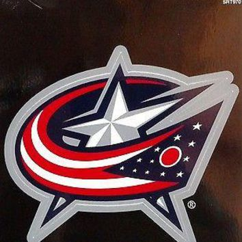 "Columbus Blue Jackets 3"" Flat Vinyl Sport Die Cut Decal Bumper Sticker Hockey"