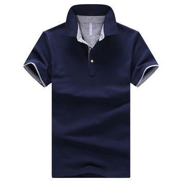 Dark Blue/Gray 2017 Summer Mens Polo Shirt $29.98