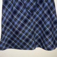 Blue Plaid Schoolgirl Skirt