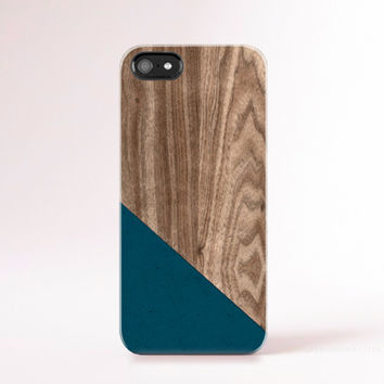 Wood Print iPhone 6 Case iPhone 5 Case Teal Geometric Cases Pantone iphone Case Mens iPhone5s Case Color Block Christmas Gift Ideas