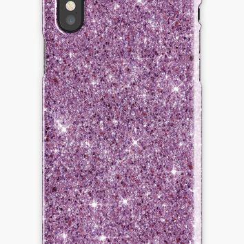 'Bright Shiny Beautiful Elegant Pink And Violet Diamond Girly Glitter Pattern ' iPhone Case by Quaintrelle