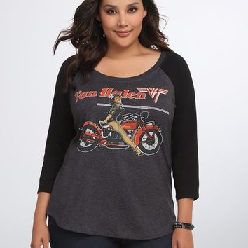 Torrid Plus Size VAN HALEN Raglan T-Shirt NWT 100% Authentic & Official
