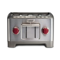 Wolf Gourmet Extra-Wide Slot 4-Slice Toaster - Stainless Steel | PCRichard.com | WGTR104S