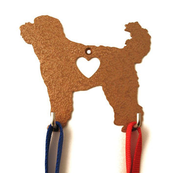 Labradoodle Goldendoodle Leash Holder - Dog Leash Hook - Dog Key Holder - Dog Leash Hanger - Dog Leash Rack
