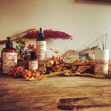 Sale** Essential Oil Fall Leaves Gift Set- Lotions and Room Spray