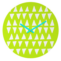 Leah Flores Pineapple Dreams Round Clock
