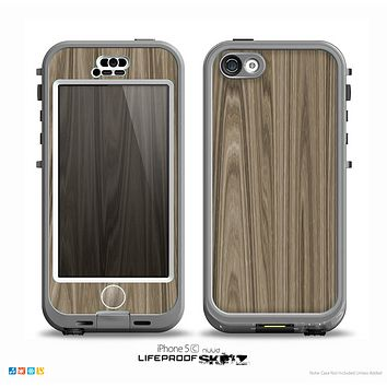 The Beige Woodgrain Skin for the iPhone 5c nüüd LifeProof Case