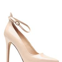 Pointed Toe Nude Viper Heels