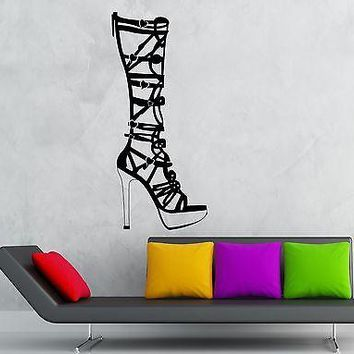 Wall Sticker Vinyl Decal Beautiful Women's Shoes Girl Fashion Shop Unique Gift (ig1853)