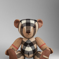 Check Cashmere Teddy Bear