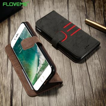 KISSCASE Flip Leather Case For iPhone 6s Case Luxury Wallet Full Protective Card Slots Phone Cases For iPhone 5 5s 7 6 6s Plus