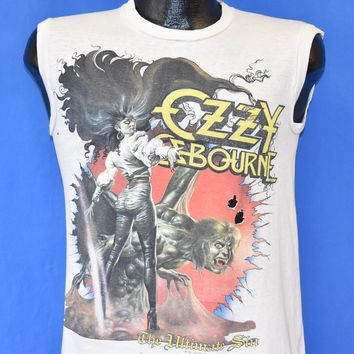 80s Ozzy Osbourne Ultimate Sin Tour Distressed t-shirt Small