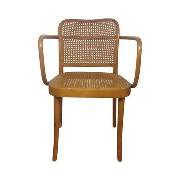 Pre-owned Thonet Mid-Century Bentwood and Cane Armchair