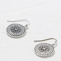 AEO Women's Rhinestone Disc Earrings (Silver)