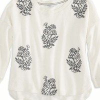 AEO Women's Embroidered Sweatshirt